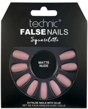 Technic False Nails Squareletto Matte Nude 24 stk