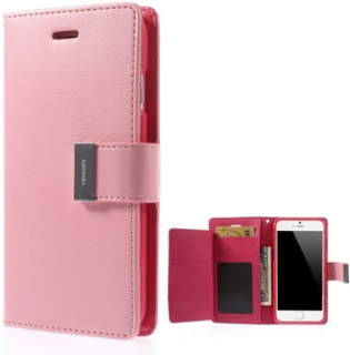 Mercury GOOSPERY Rich Diary till iPhone 6 / 6s ROSA - Mercury