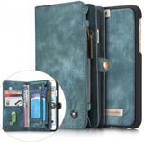 CASEME iPhone 6s 6 Retro Split läder plånboksfodral - Blå - CaseMe 74cdaced33b4b