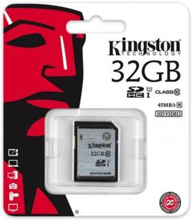 Kingston minneskort, SDHC, 32GB, UHS-I Class 10 - Kingston