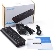 ORICO 9 Ports USB Hubb 2.0 samt 2 laddnings portar