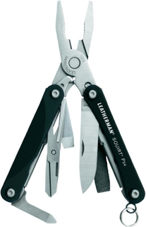 Multitool Leatherman Squirt PS4 black Antal verktyg: 9 Svart