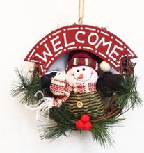 Jul dörrkrans - Snögubbe Welcome