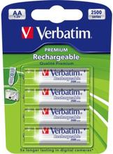 Verbatim laddningsbara batterier, AA(LR06), Ni-MH, 2500mAh