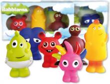 BABBLARNA Plast figurer Mix 6 olika