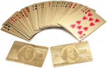 100 Guld Plast PVC Poker Vattentäta Spelkort Kortlek