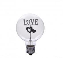 E27 3W LOVE and Heart varm Vit Neon lampa