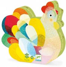 Djeco - Pussel - Siluettepussel - Raoul The Hen