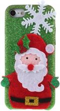 iPhone 7 / iPhone 8 Skal i hårdplast Julmotiv - Green / Santa Clause