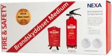 NEXA Brandskyddsset Medium Design Line brandsläckare 2kg - Röd