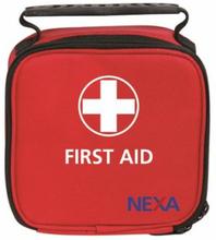 Nexa Första Hjälpen Mini, grundläggande förbandsset i rymlig väska, 35 delar
