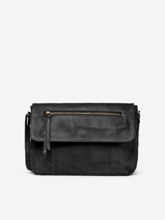 PIECES Leather Crossbody Bag Women Black