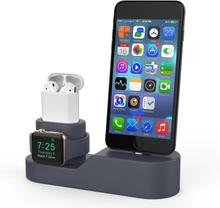 AhaStyle 3i1 Silikoni-telakointiasema AirPods Apple Watch iPhone