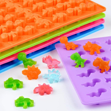 NEW Cute Little Dinosaur Silicone Molds Chocolate Mould Ice Tray Mould Soft Candy Mould With Dropper