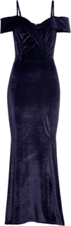Axellös sammetsklänning