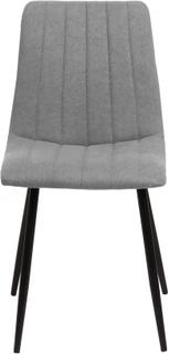 Elina matstol i Ljus Grå med svarta metall ben