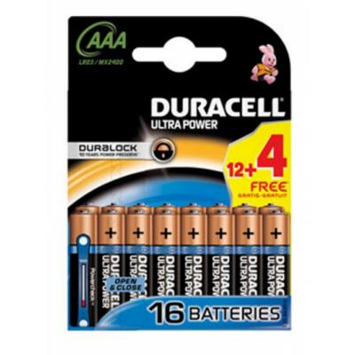 Duracell AAA Duralock Ultra 16 kpl