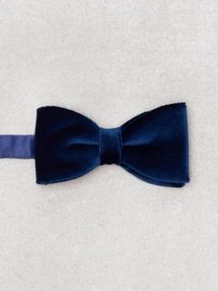 Amanda Christensen Jacquard Pre Tie Butterfly Navy
