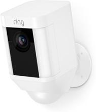 Ring Spotlight Kamera, Jossa On Akku, Valkoinen Valkoinen