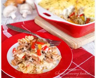 recipe: zapiekanka makaronowa z mięsem mielonym i pieczarkami [2]