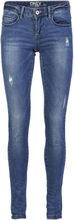 ONLY Onlcoral Superlow Destroyed Skinny Fit Jeans Women Blue