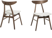 Ruokapöydän tuoli valkoinen 2/pakk LYNN