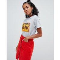 Ragyard - T-shirt i boyfriendstil med tigermönster - Grå
