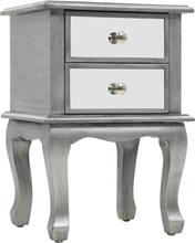 vidaXL Sängbord med spegel MDF och glas 34,5x30x50 cm