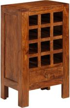 vidaXL Vinställ massivt akaciaträ 50x37x90 cm brun