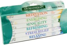 Aromatheropy - Presentset med 6 Olika Paket med Stamford Rökelsespinnar
