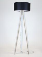 WANDA Stehlampe 45x140cm - Weiß / Schwarz Lampenschirm