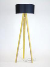 WANDA Stehlampe 45x140cm - Gelb / Schwarz Lampenschirm