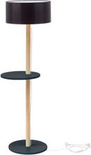 UFO Stehlampe 45x150cm - Graphit / Schwarz Lampenschirm