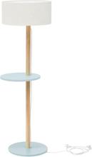UFO Stehlampe 45x150cm - Hellgrau / Weiß Lampenschirm