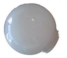Glaskuppel 150mm 84,5mm gevind (hvid)