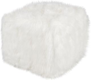 Puff - Hvid kvadrat