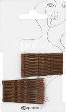Apoliva Hårnålar bruna