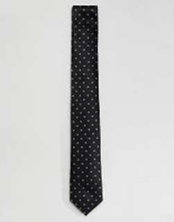 Selected Homme star detail tie - Black