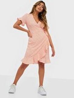 Vero Moda Vmhenna 2/4 Wrap Frill Dress Noos Chintz Rose Loula