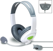 Stort headset för xbox 360 grå