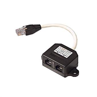 Splitter Y-kabel RJ45 TP, UTP oskärmad