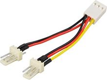 Adapterikaapeli 3-pin tuulettimelle, Y-kaapeli 2-1