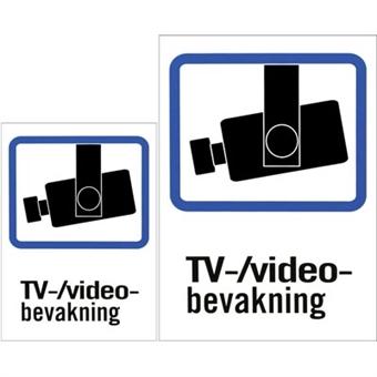 Plastskilt, TV/Video-bevakning