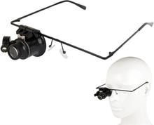 Silmälasit 20X Suurennus + LED valo