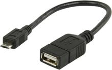USB 2.0 A Naaras - micro USB B Uros OTG-datakaapeli