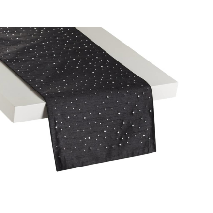Beliani Kaitaliina musta 35x180 cm TORATE