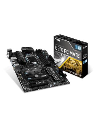 B250 PC MATE Bundkort - Intel B250 - Intel LGA1151 socket - DDR4 RAM - ATX