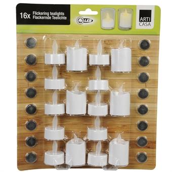 LED Lämpökynttilät 16-Pakkaus Sekoitus