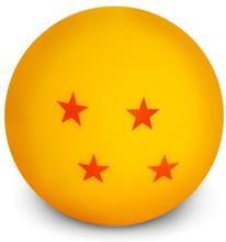Dragon Ball - Mini Dragon Ball -Bordlampe - rød, gul