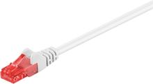 CAT 6 patch cable, U/UTP, Valkoinen 0,5 m